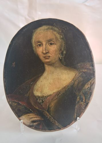 Portrait of a lady on copper, Italy, 17th century