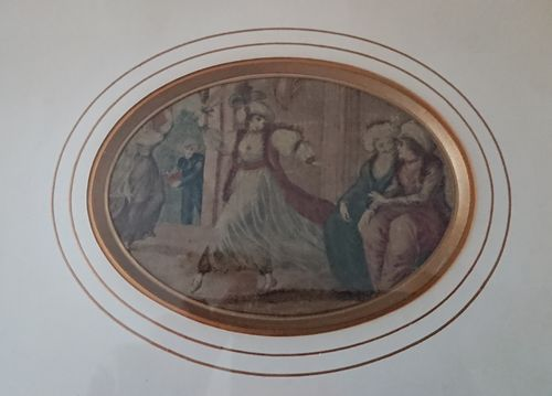 Miniature painting on silk, circa 1775